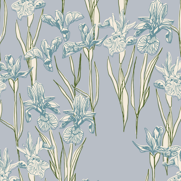 Annabelle Wallpaper: Marine Blue