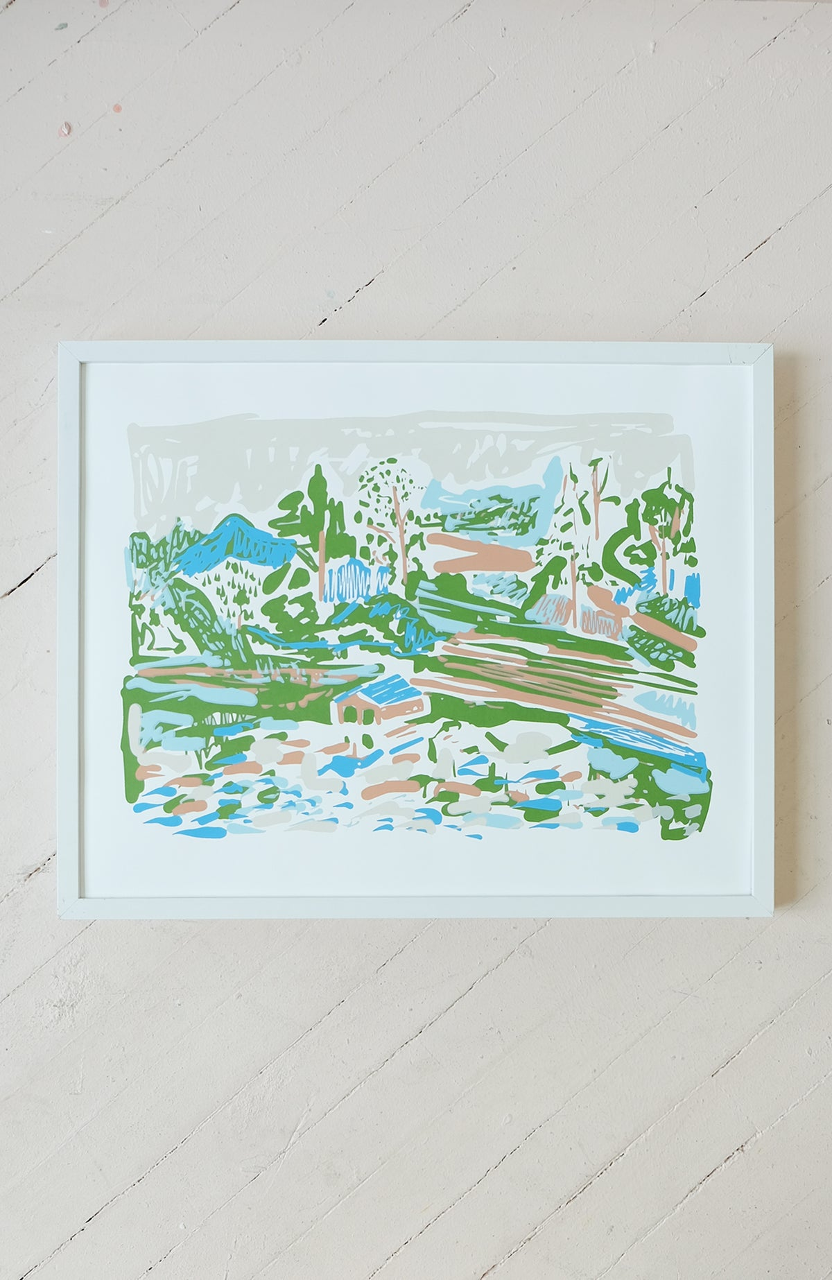 View of the Big Lake - Silkscreen Print