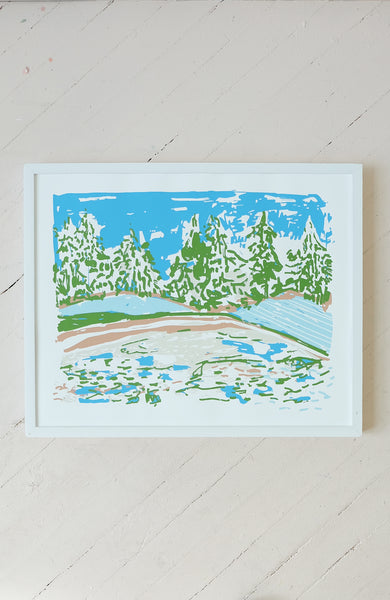 View of the Cotton Field - Silkscreen Print