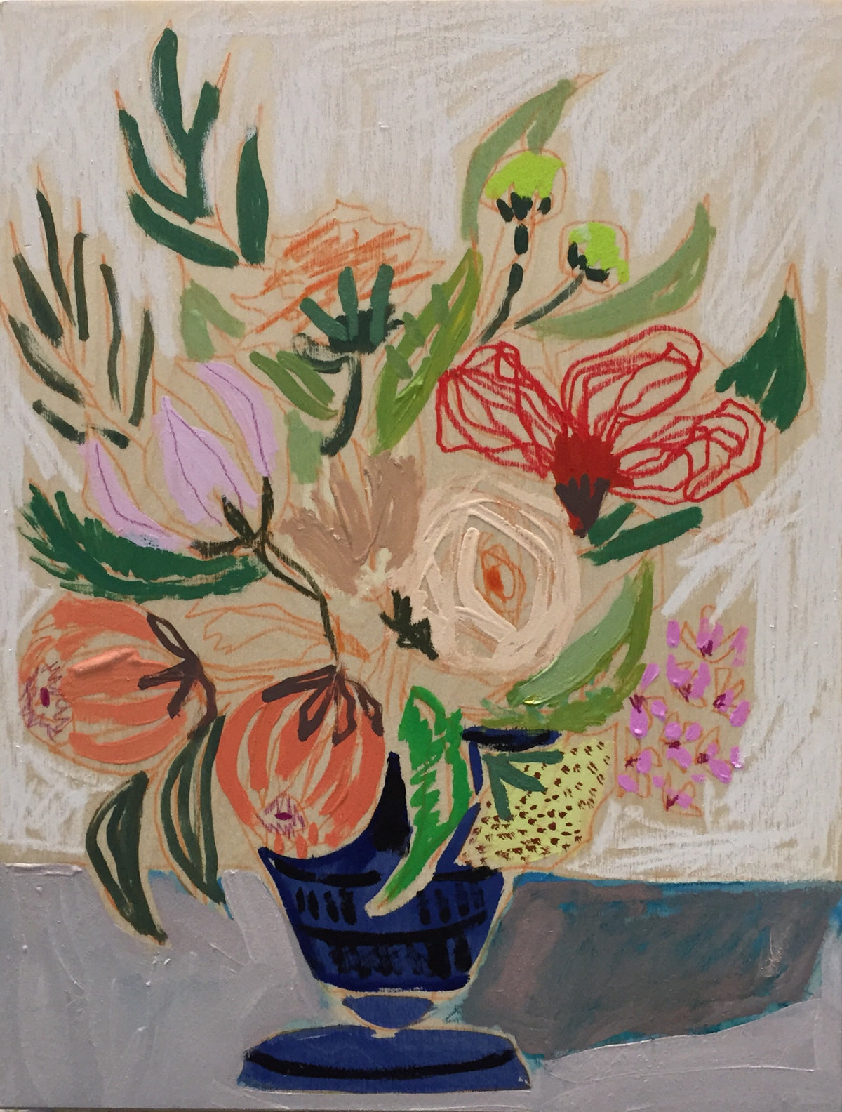 FLOWERS FOR MARY - 11x14