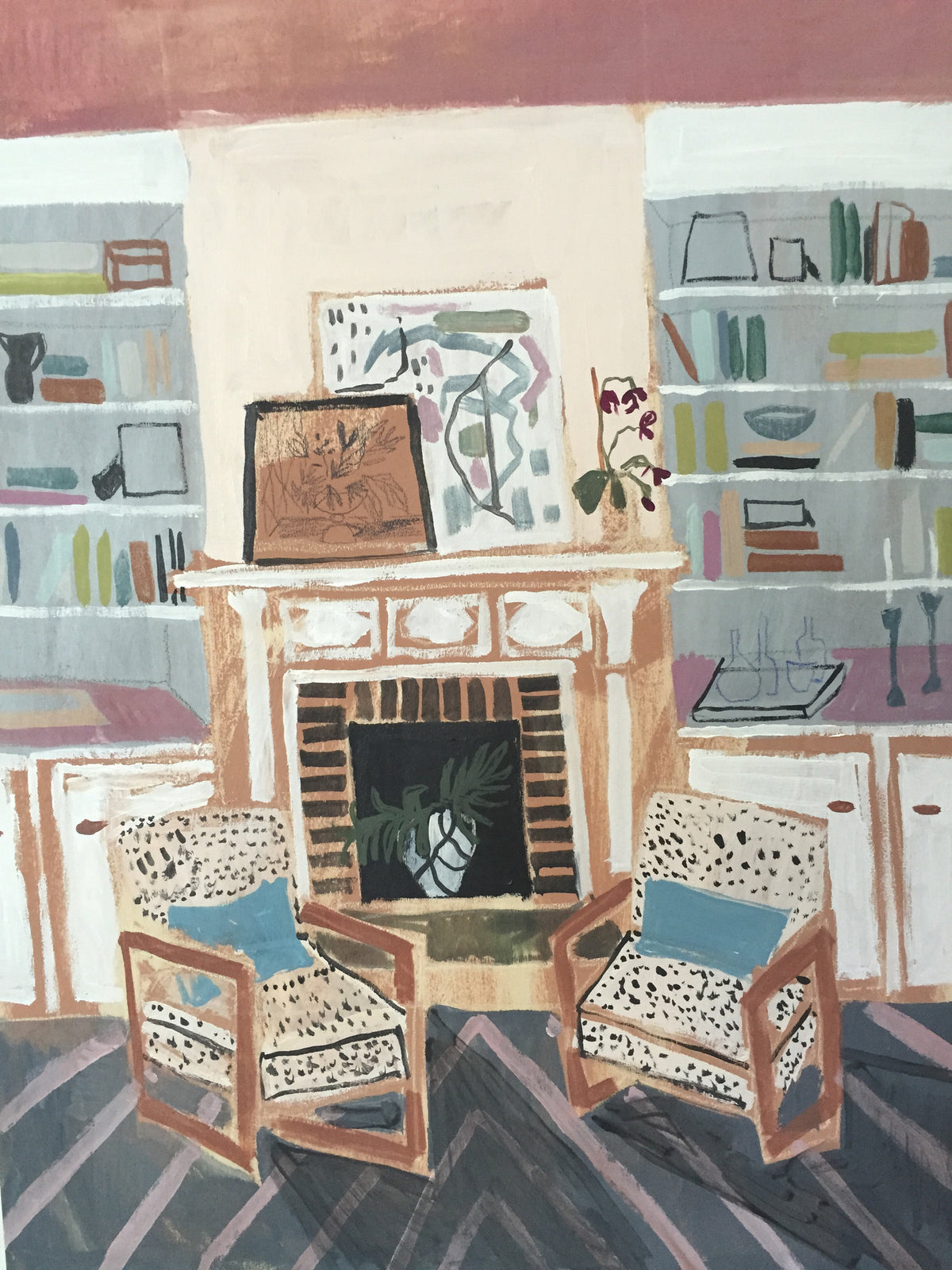 "View From my Blue Couch No. 2- 24""x 30"""