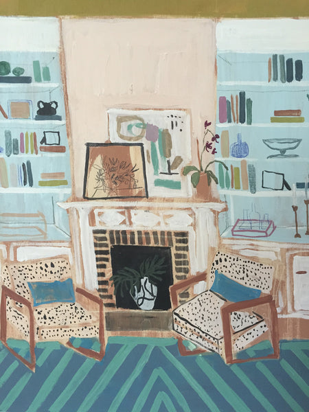 "View from my Blue Couch No. 3 - 24""x 30"""