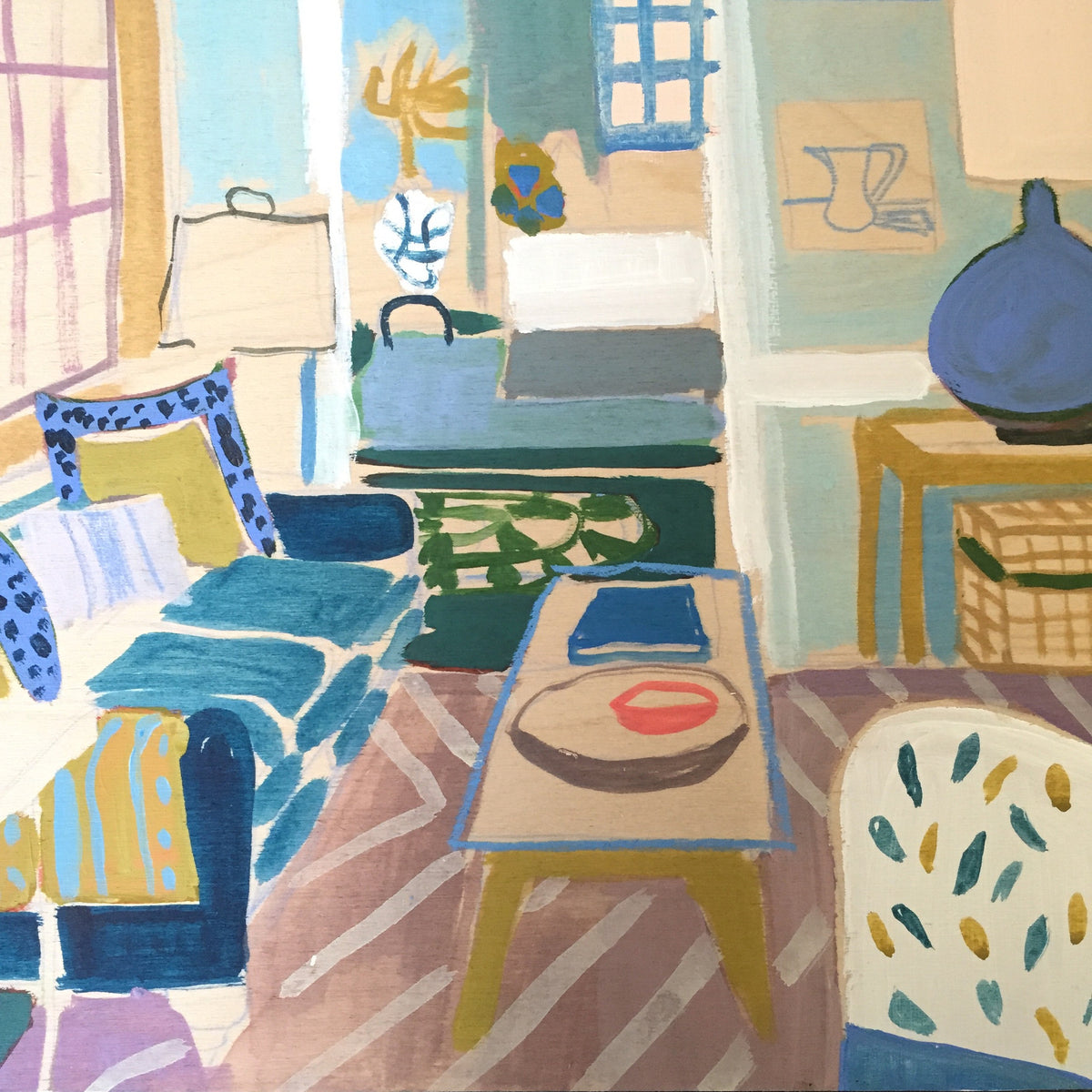 "Mini Living Room No. 3 - 12""x 12"""