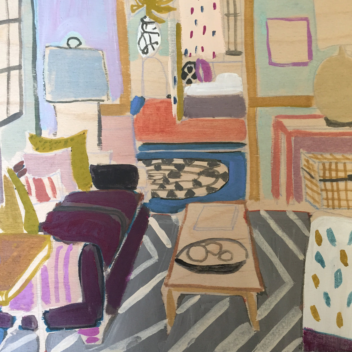 "Mini Living Room No. 1 - 12""x 12"""