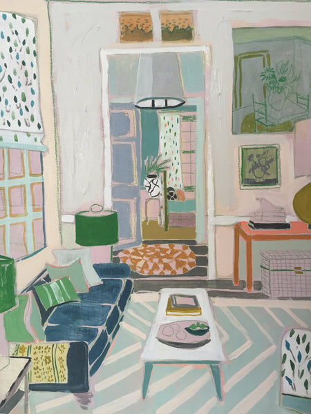 "Living Room St. No.5 - 24""x 30"""