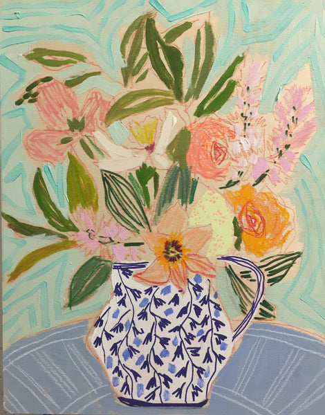 FLOWERS FOR HARRIET - 16X20