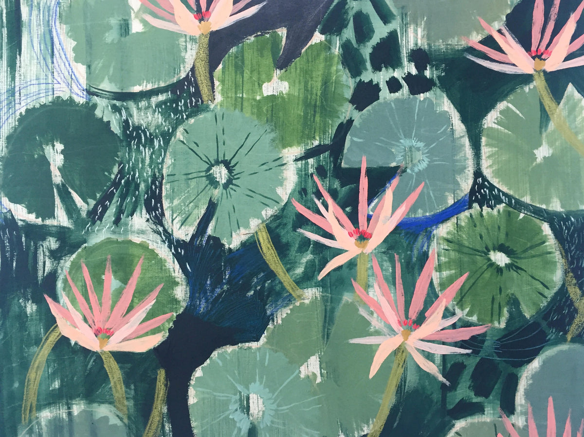 AQUATIC PLANTS NO.32 - 30X40""