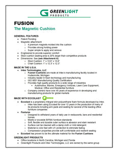 Fusion The Magnetic Chair Seat Cushion