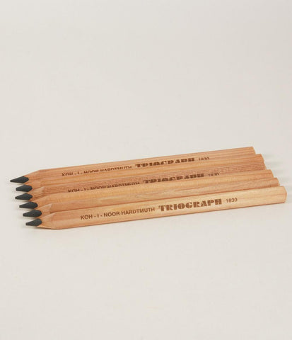 Wood Artists Triangle Graphite Pencils - 6 Pack of HB