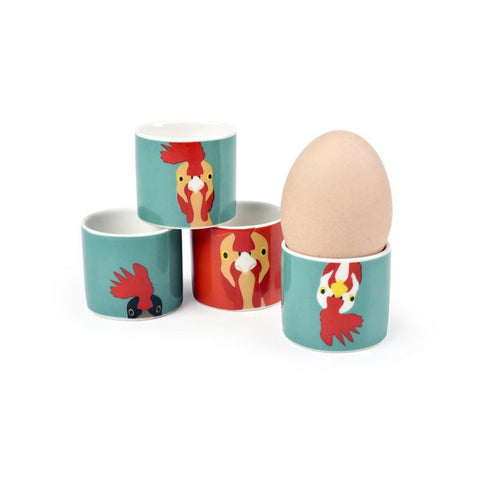 """Plucky"" Egg Cups - Set of 4"