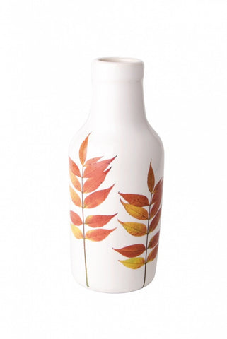 Autumn Spray Porcelain Botanical Vase