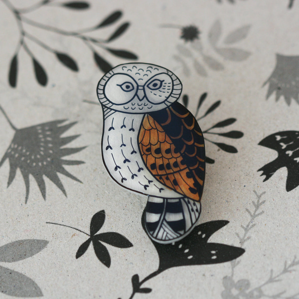 Laughing Owl Brooch