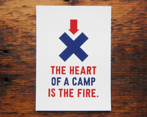 The Heart Of The Camp Art Print