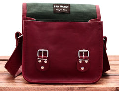 La Sacoche Leather Satchel - Bordeaux Red