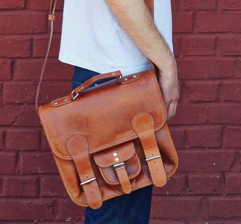 Le Cartable Leather Satchel - Small