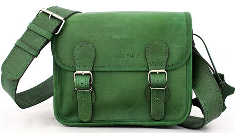 La Sacoche Leather Satchel - Bamboo Green