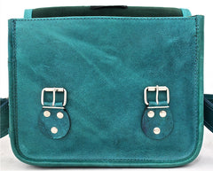 La Sacoche Leather Satchel - Turquoise Blue