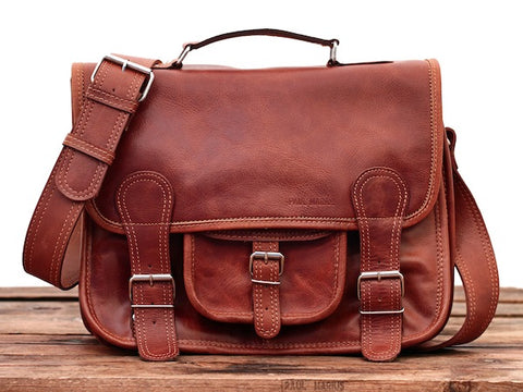 Le Cartable Leather Satchel - Medium