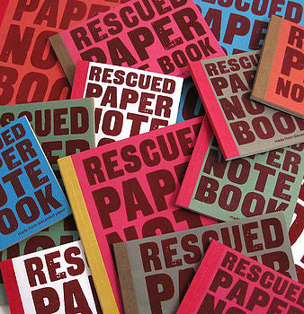 Rescued Paper Notebook