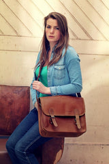 La Sacoche Leather Satchel - Medium