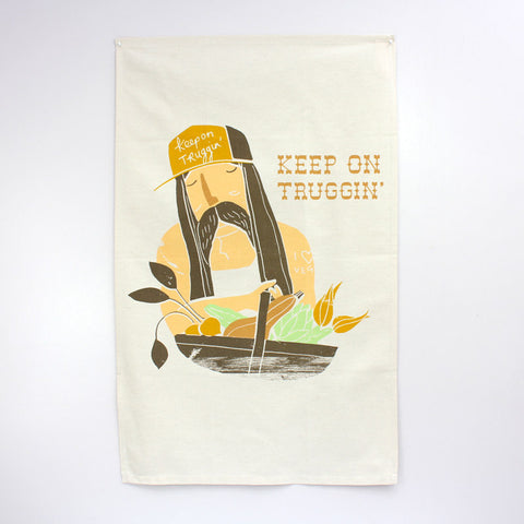 Keep On Truggin' Tea Towel
