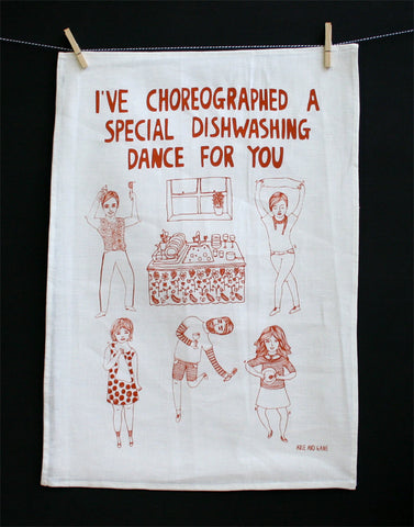 Dishwashing Dance Tea Towel