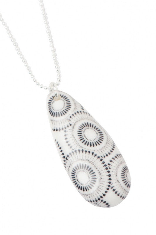 Cellular Teardrop Necklace