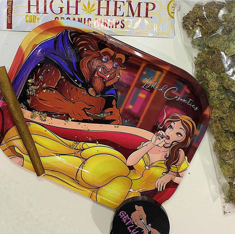 Beauty & the Beast Rolling Tray
