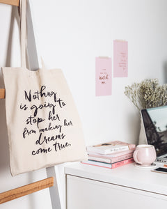 Nothing Is Going To Stop Her, Small Tote Bag