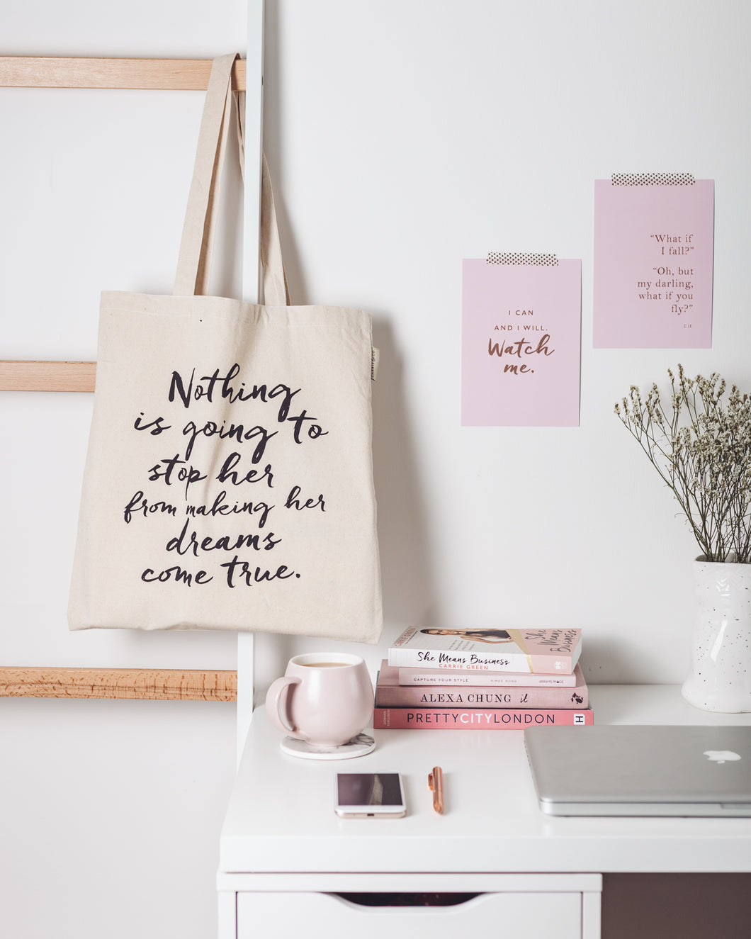 Nothing Is Going To Stop Her, Small Tote Bag (20% off)