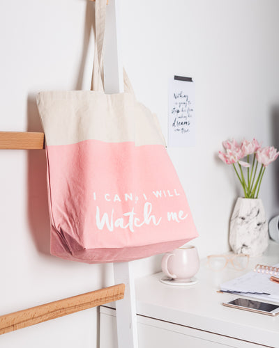 I Can & I Will, Large Tote Bag