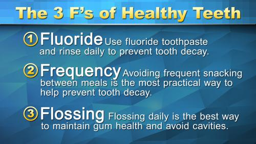 The 3 F's Of Healthy Teeth Version 2