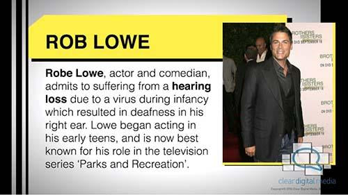 Celebrities and Hearing Loss Version 1 - Lowe