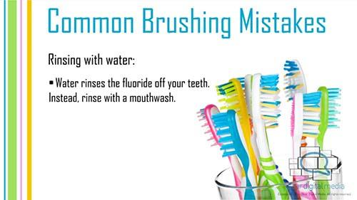 Common Brushing Mistakes 3