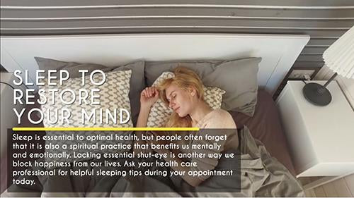 Everyday Health: Sleep to Restore Your Mind