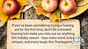 Thanksgiving - Audiology