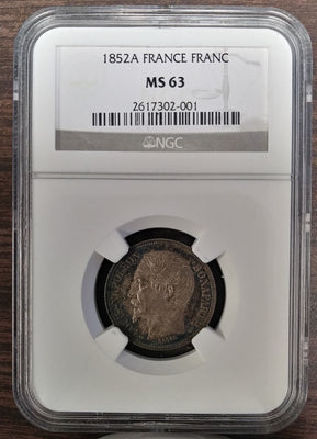 France: Louis-Napoleon 5 Francs 1852-A - NGC MS-63 - Doelger's Gallery