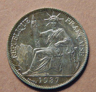 1937 French Indo China 20 cents - MS-62 - Doelger's Gallery