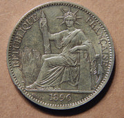 1896-A French Indo China 50c - AU - Doelger's Gallery