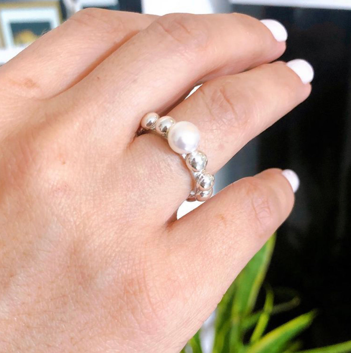 Pearl Rosary Ring