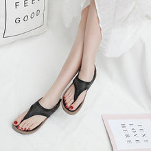 Load image into Gallery viewer, Women Wedge Sandals Summer Bohemia Beach Rhinestone Clip Toe Sandals