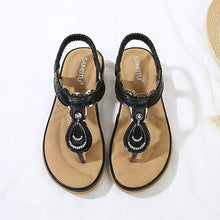 Load image into Gallery viewer, Meeshine Women Summer Beach Flat Wedge Sandals Bohemia Flip-Flop Ankle Strap Thong Shoes