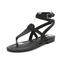 Load image into Gallery viewer, Meeshine Women Summer Ankle Strap Gladiator Strappy Flat Sandals Roman Thong Beach Sandals