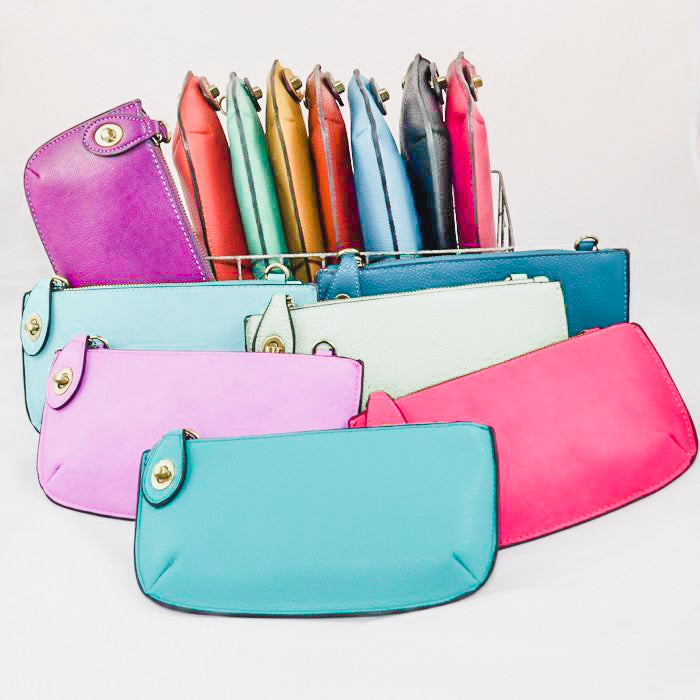 women's clutch bags in a variety of colors