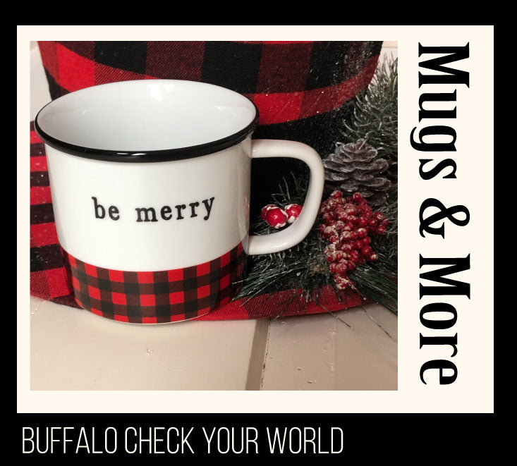 Buffalo check mug and hat