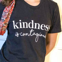 kindness is contagious t-shirt