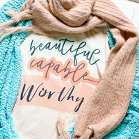 t-shirt with scarf and sweater