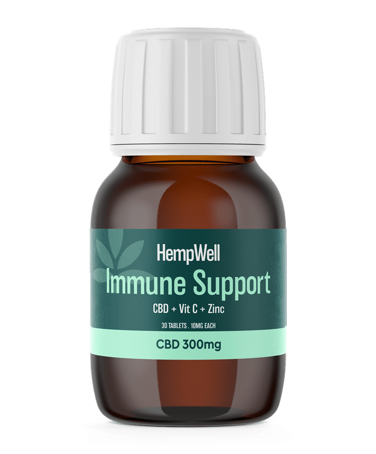 Immune Support CBD Tablets 300mg | 30 x 10mg Tablets.