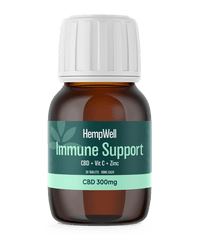 HempWell Immune Support CBD Tablets | 300mg CBD | 30 x 10mg Tablets. freeshipping - CBDSupermarket?id=15985288642665