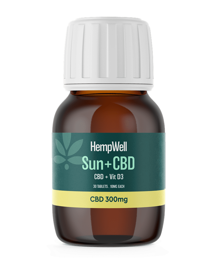 HempWell Sun and CBD Tablets | 300mg CBD | 30 x 10mg Tablets freeshipping - CBDSupermarket?id=15985297948777